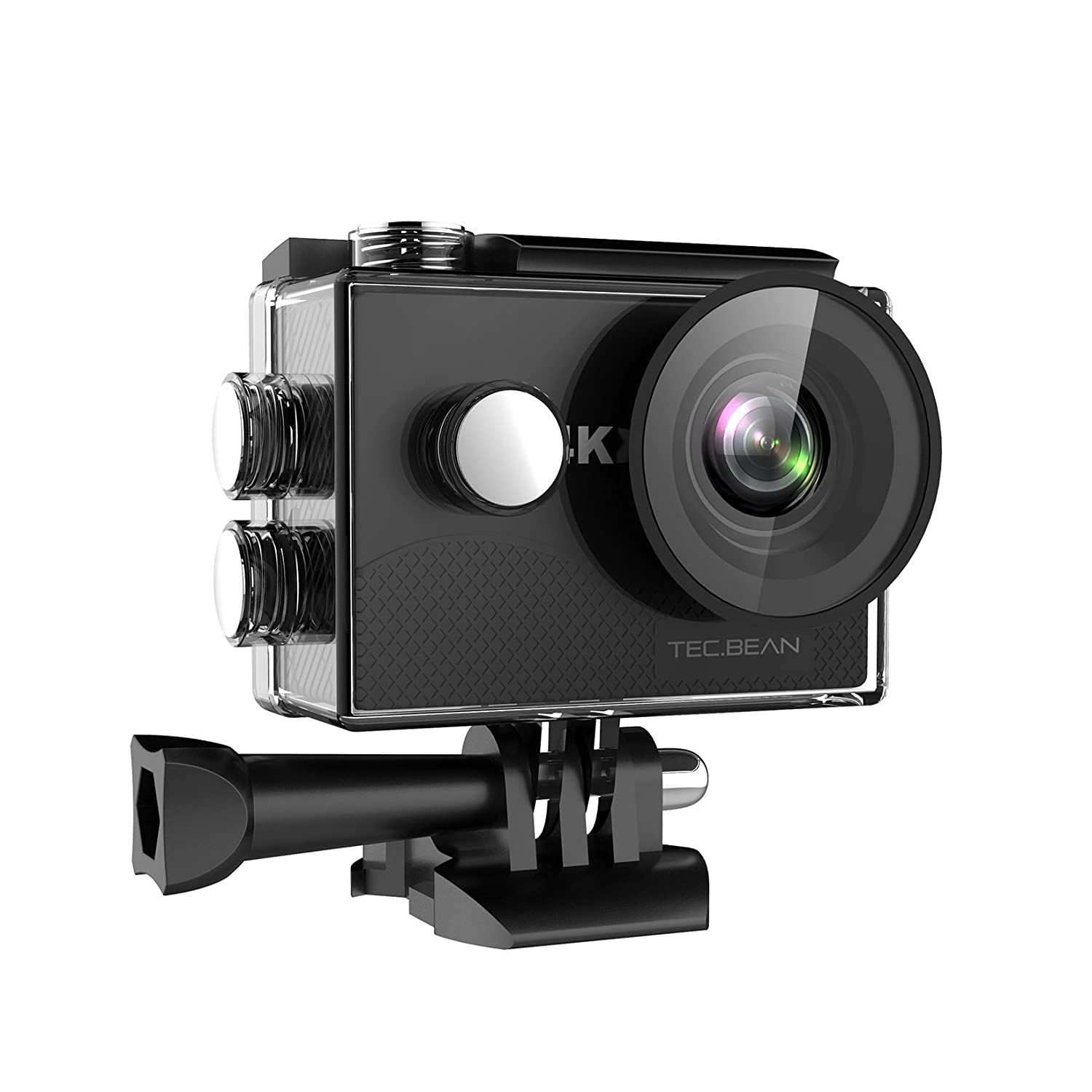 TEC 4K Action Camera – Pantalla LCD FHD de 2.0 pulgadas - Waterproof with Built in WIFI - Batteries and Accessories Included