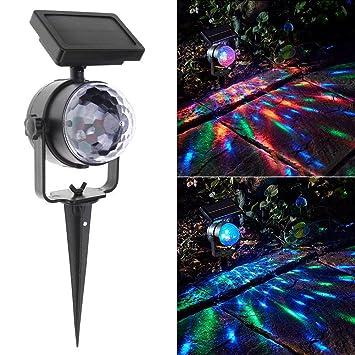 Lamptti - Luz solar para el suelo con proyector de color giratorio ...