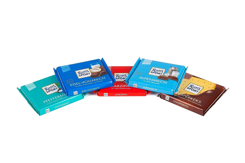 Ritter Sport - Todo en Uno - Paquete de chocolate alemán - 25x100g: Amazon.es: Alimentación y bebidas
