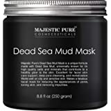 MAJESTIC PURE Dead Sea Mud Mask - Natural Face and Skin Care for Women and Men - Best Black Facial Cleansing Clay for…