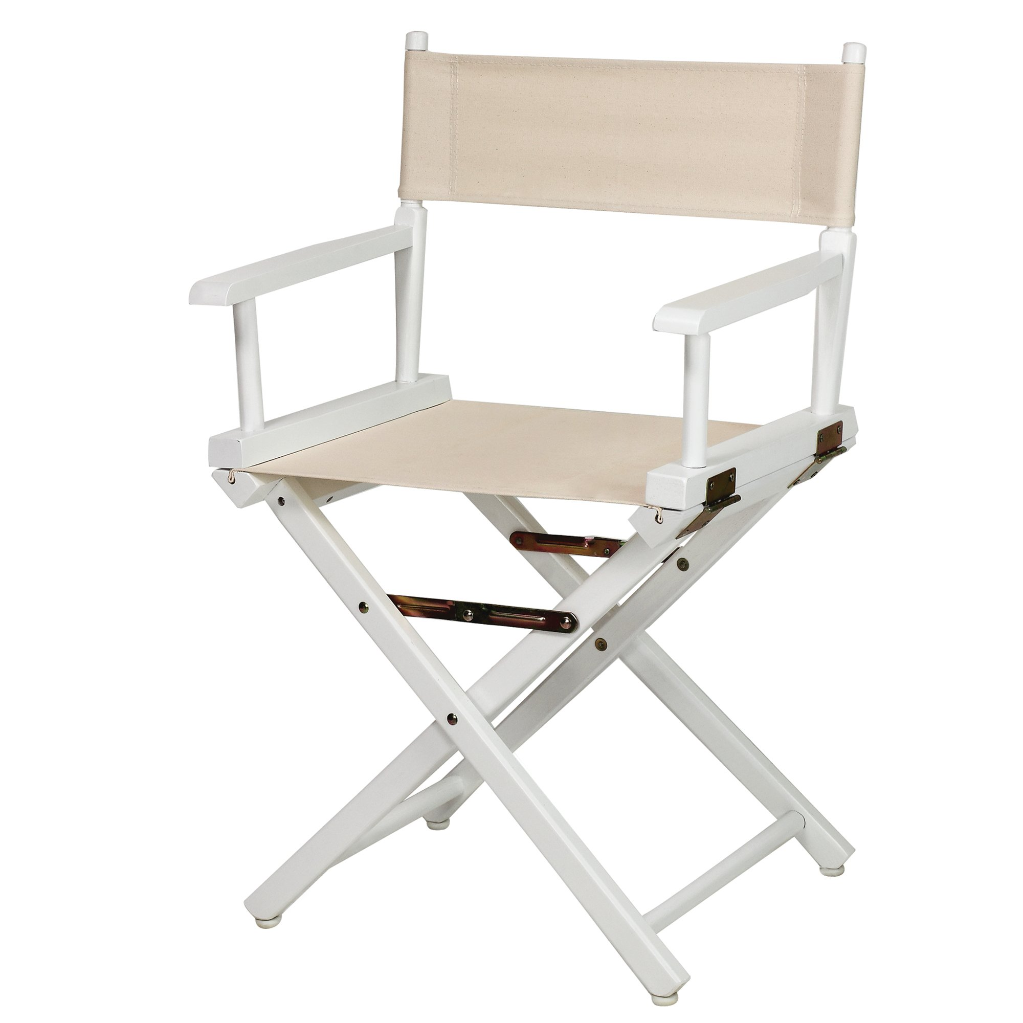 Casual Home 18'' Director's Chair White Frame with Wheat Canvas by Casual Home
