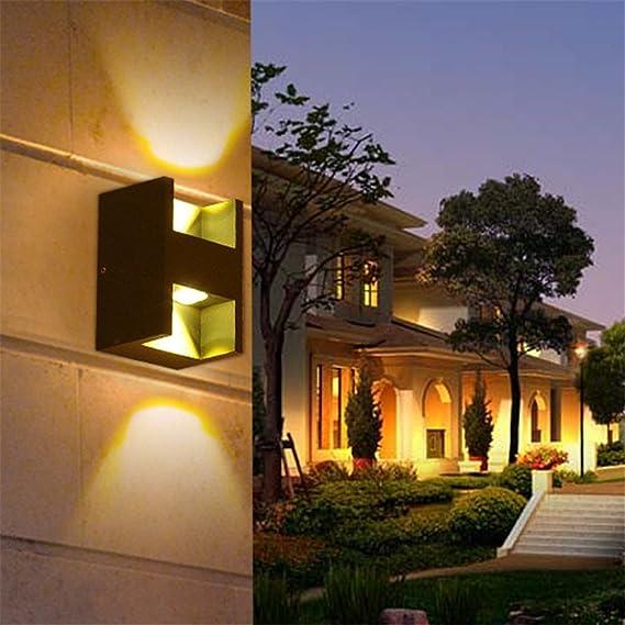 Ysddian Lámpara de Pared Led minimalista exterior Piscina muro ...