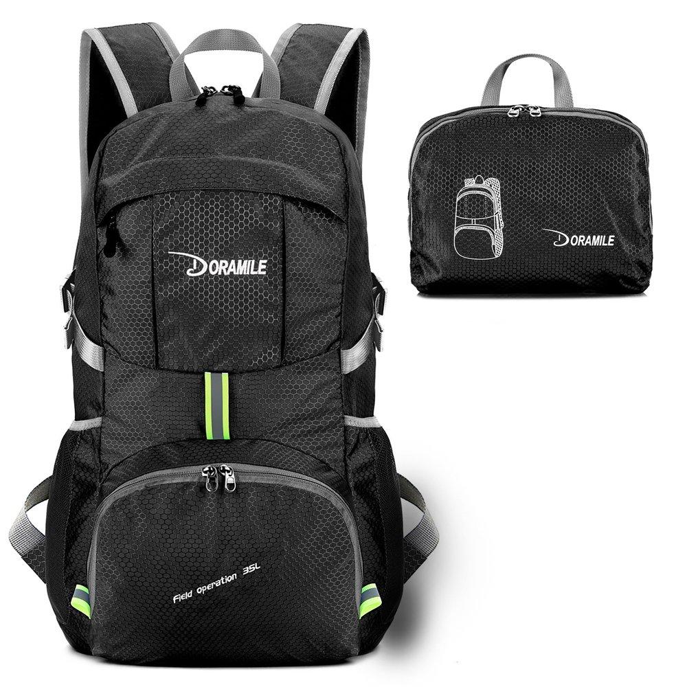 DORAMILE Hiking Backpack Lightweight Packable Travel Daypack,35L Foldable Camping Backpack,Ultralight Outdoor Sport Backpack