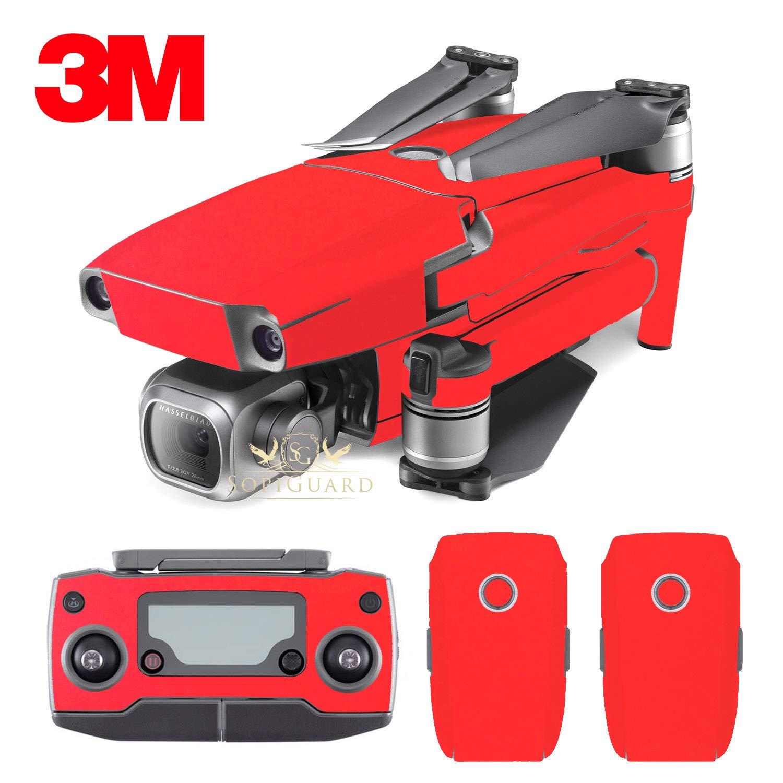 SopiGuard 3Mマットレッドビニールステッカースキン DJI Mavic 2 Pro/Zoom B07HDNTPTJ