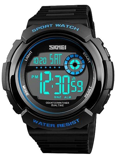 Reloj Deportivo Digital para Hombre con LED de Gran Cara y Esfera Militar, táctico,