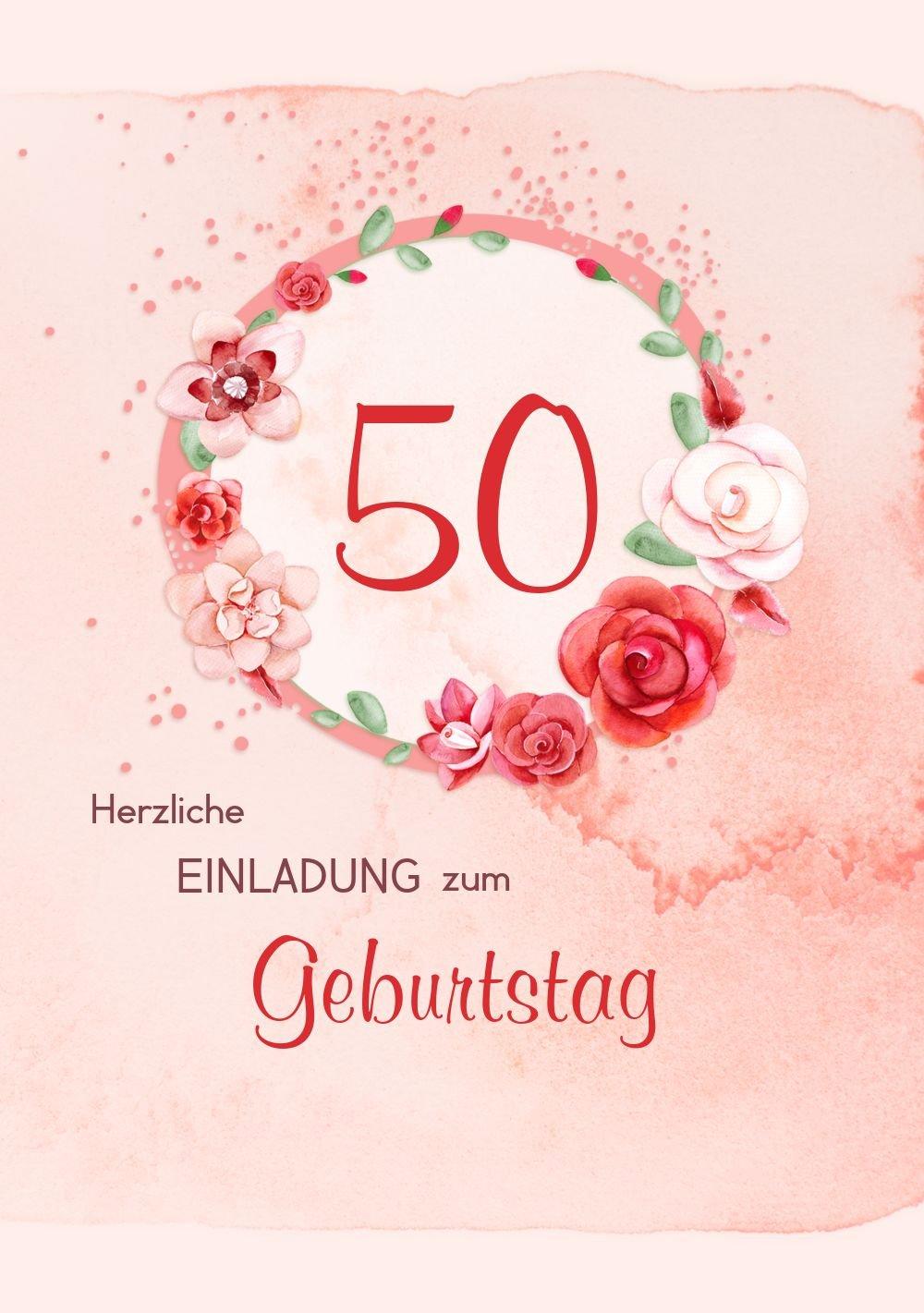 Geburtstagseinladung Geburtstagseinladung Geburtstagseinladung Aquarell Rosan 50, 20 Karten, RosaRosa B073D3TZJ6 | In hohem Grade geschätzt und weit vertrautes herein und heraus  | Berühmter Laden  | Zuverlässiger Ruf  b665cc