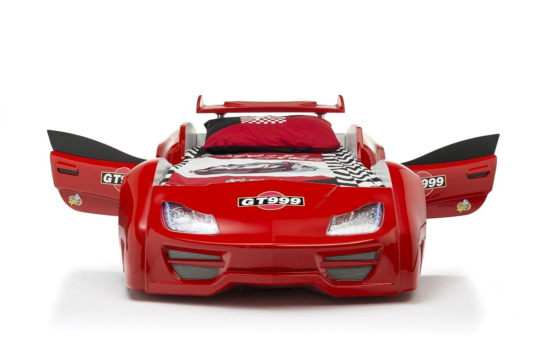 Das Beste Autobett Kinderbett GT 999 in rot mit Türen LED komplett ...