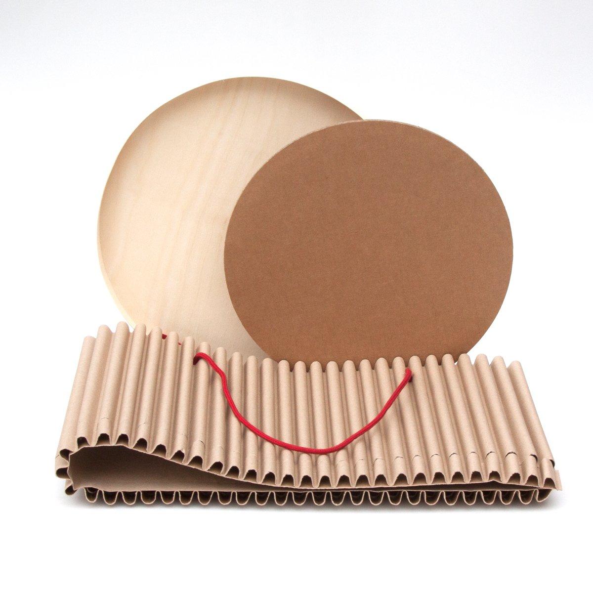 36 cm cArt/ù Box: Presenta Il Tuo Regalo con Stile ed Eleganza Grazie a queste scatole costruite in cArt/ù Protettive e robuste Complete di Coperchio in Legno.Tondo Grande Esterne: d h 27.5 cm.