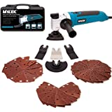 MYLEK Multi Tool 300W - Oscillating Multifunction Multi tools – Quick Blade Release Function - 48 Piece Accessory Kit - Carry Case - 6 Speeds + 4 Interchangeable Blades + 40 Sanding Sheets Attachment
