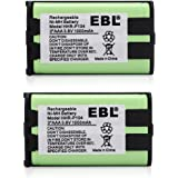 EBL 2 Packs 3.6V Home Phone Battery for Panasonic HHR-P104 HHR-P104A KX-FG6550 KX-FPG391 KX-TG2388B KX-TG2396
