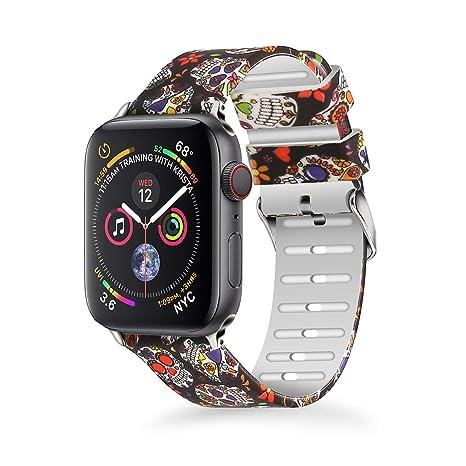 689c3204b3e1e Amazon.com : Greatfine Compatible with Apple Watch Series 4 Band ...