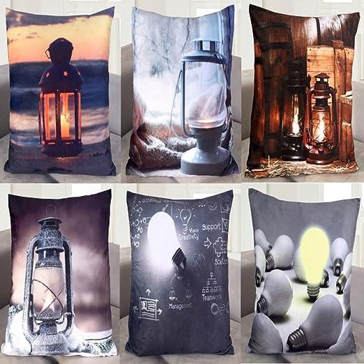 Cojín con luz LED, cojín de sofá, cojín de decoración, cojín ...