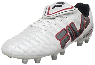 6b206f039b83 Fila Men's Soundwave Soccer Shoe,White/Metallic Silver/Pewter,9.5 ...
