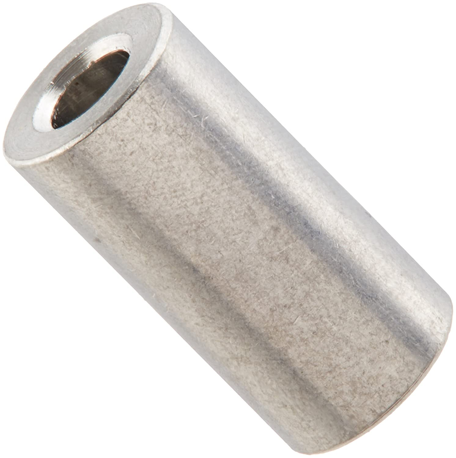 0.115 ID 1//2 Length 1//4 OD Small Parts 140804RSA Pack of 25 Plain Finish Round Spacer 1//4 OD 0.115 ID 1//2 Length Pack of 25 Aluminum #4 Screw Size