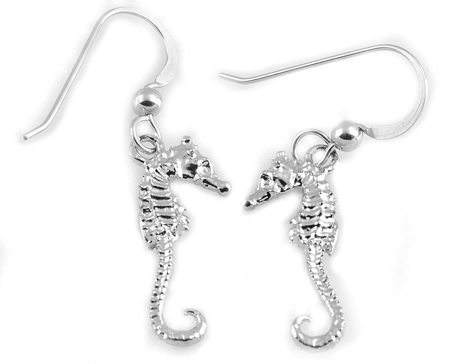 Handmade Solid Sterling Silver Seahorse Earrings