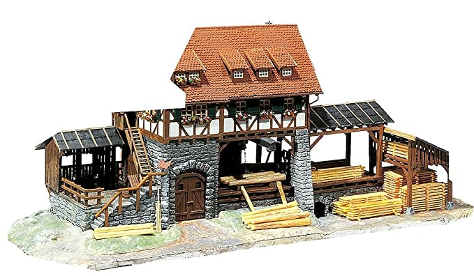 Amazon com: Faller 130229 Operating Sawmill HO Scale Building Kit