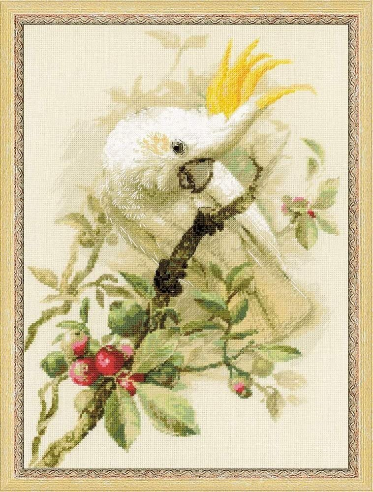 RIOLIS White Cockatoo Counted Cross Stitch Kit-11.75X15.75 14 Count