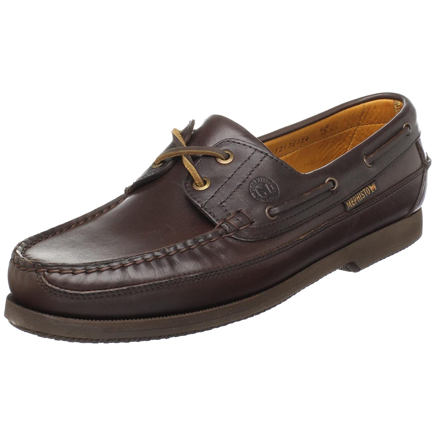 93069a0c3a Mephisto Men s Hurrikan Boat Shoe Dark Brown 7 D(M) US: Buy Online at Low  Prices in India - Amazon.in