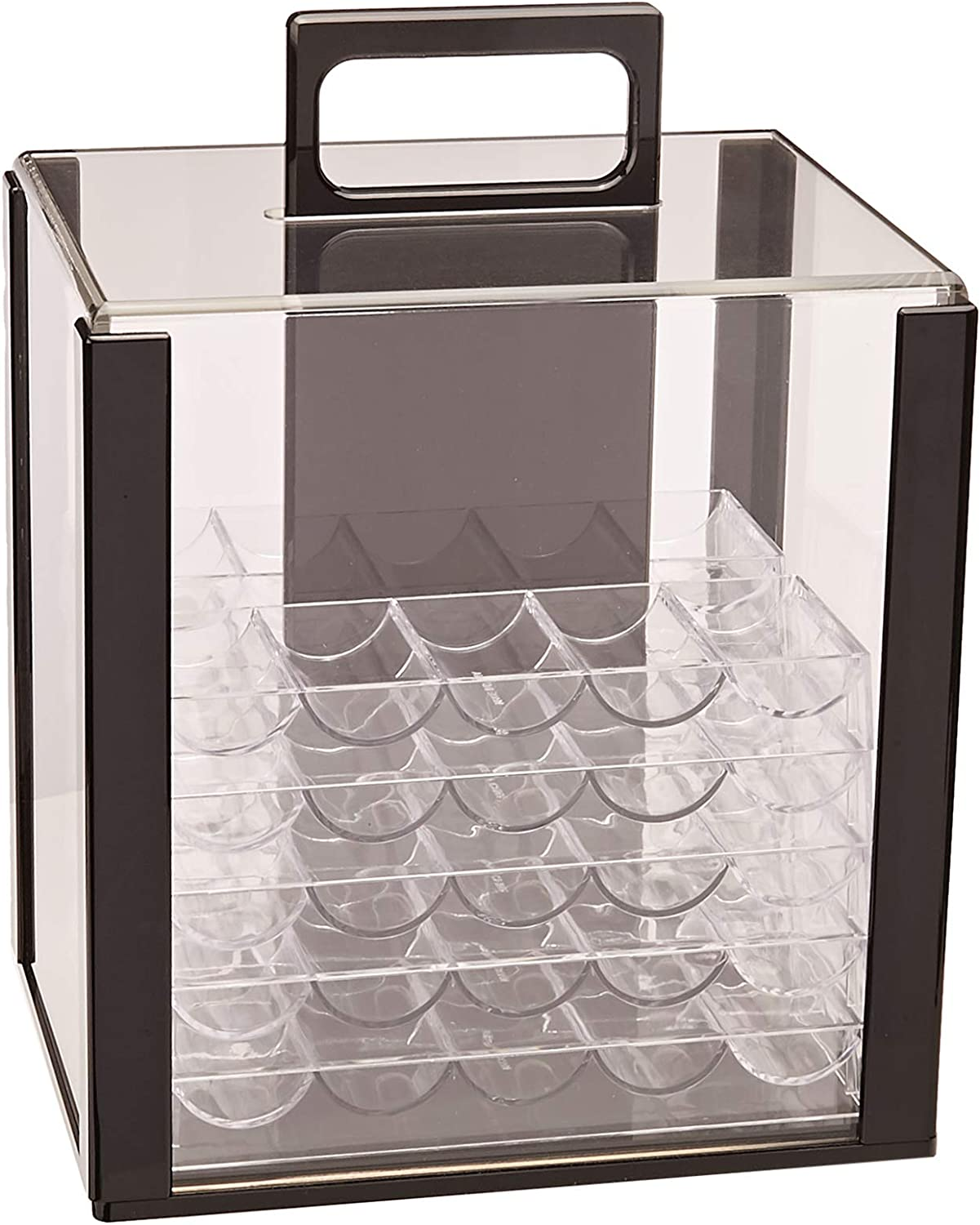 100D capacity poker chips box poker acrylic chips tray chips case with coverRSDE
