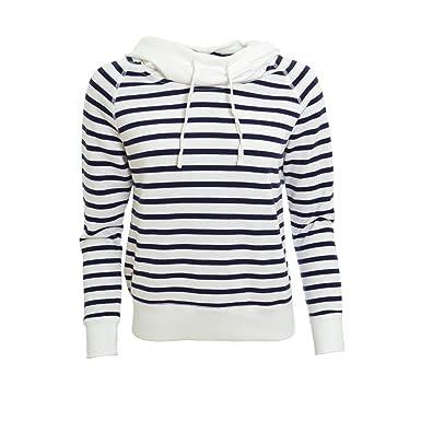 Pull Ralph Lauren rayé bleu marine et blanc Greer pour femme  Amazon ... 01a08e133b6