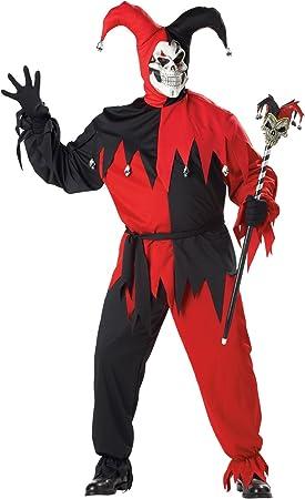 California Costumes 01613 - Disfraz De Bufón Malvado / Joker Rojo ...