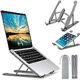 Laptop Stand, Senose Laptop Holder Portable Computer Stand Desktop Holder Mount Foldable Riser with 7 Levels Adjustable Alumi