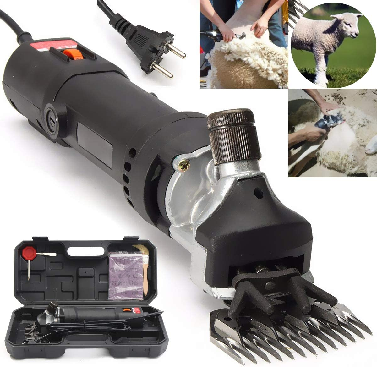 850ワットac 110-220ボルト電気羊犬ペットバリカン動物せん断用品ヤギアルパカファームカット機