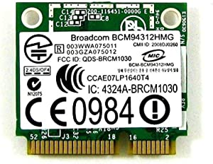 BroadCom BCM94312HMG DW1397 Half Mini PCI-Express PCIe Wireless WLAN Wifi Card for Dell KW770 FR016
