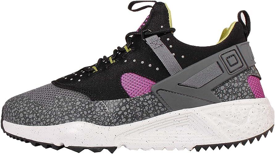 Herren Nike Air Huarache Utility Schwarz Grau Schuhe:Nike