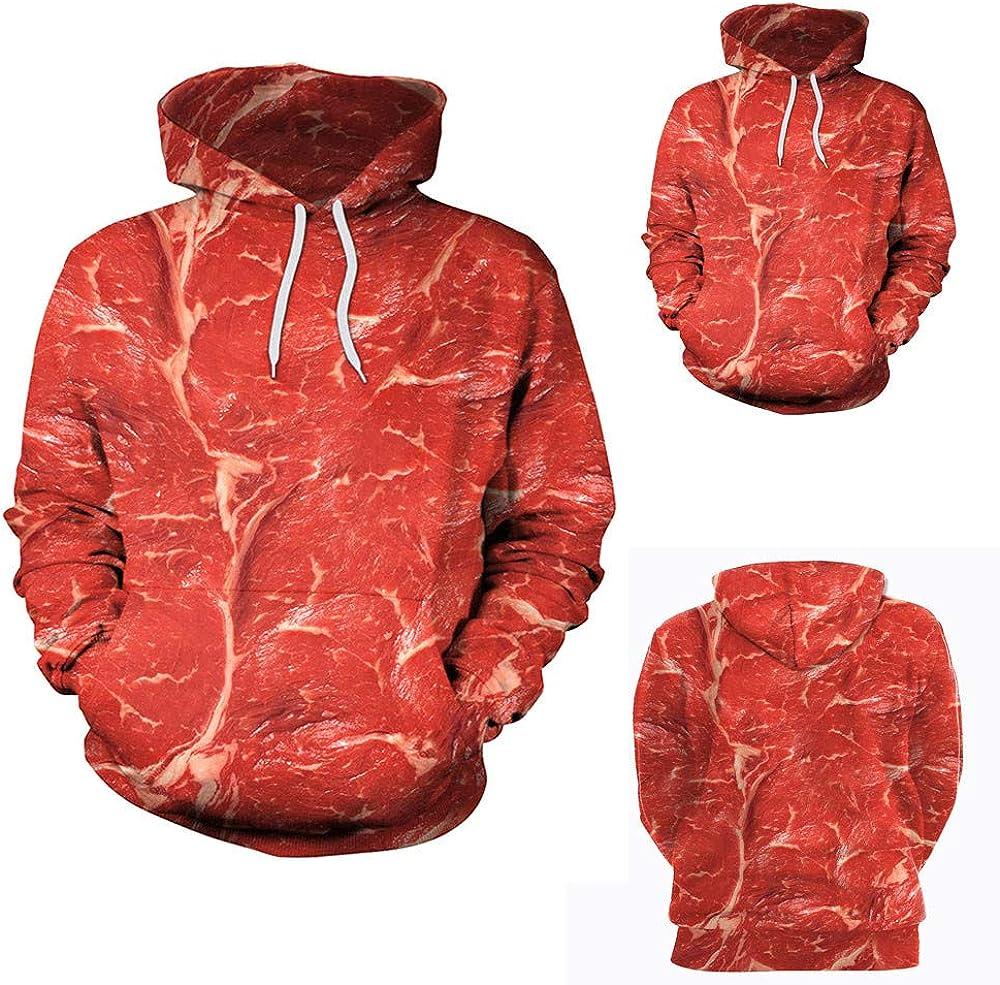 RedBrowm Loves Casual 3D Printing Sweatshirt Long Sleeve Winter Hoodie Coat Top