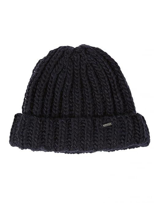 Woolrich Cappello Donna Wwacc1364ac213 Lana Blu  Amazon.it  Abbigliamento 3694764ced11