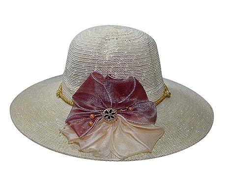 7e1bc1b70e8112 TieKart Cream Designer Summer Beach Sun Hat for Women: Amazon.in: Clothing  & Accessories