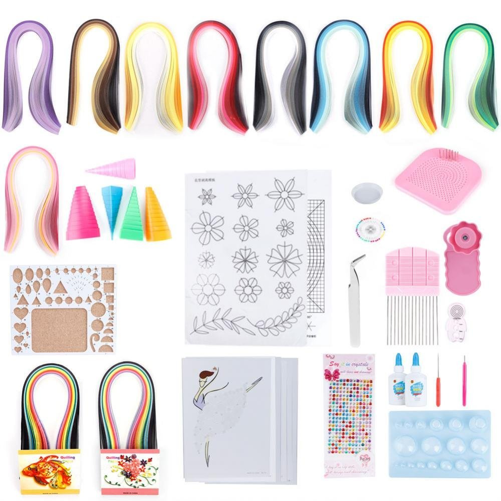 Paper Quilling DIY Kits, 19PCS Quilling Strips DIY Crafts Tool Set for Beginner's DIY Craft Clipping Decoration by ZJchao