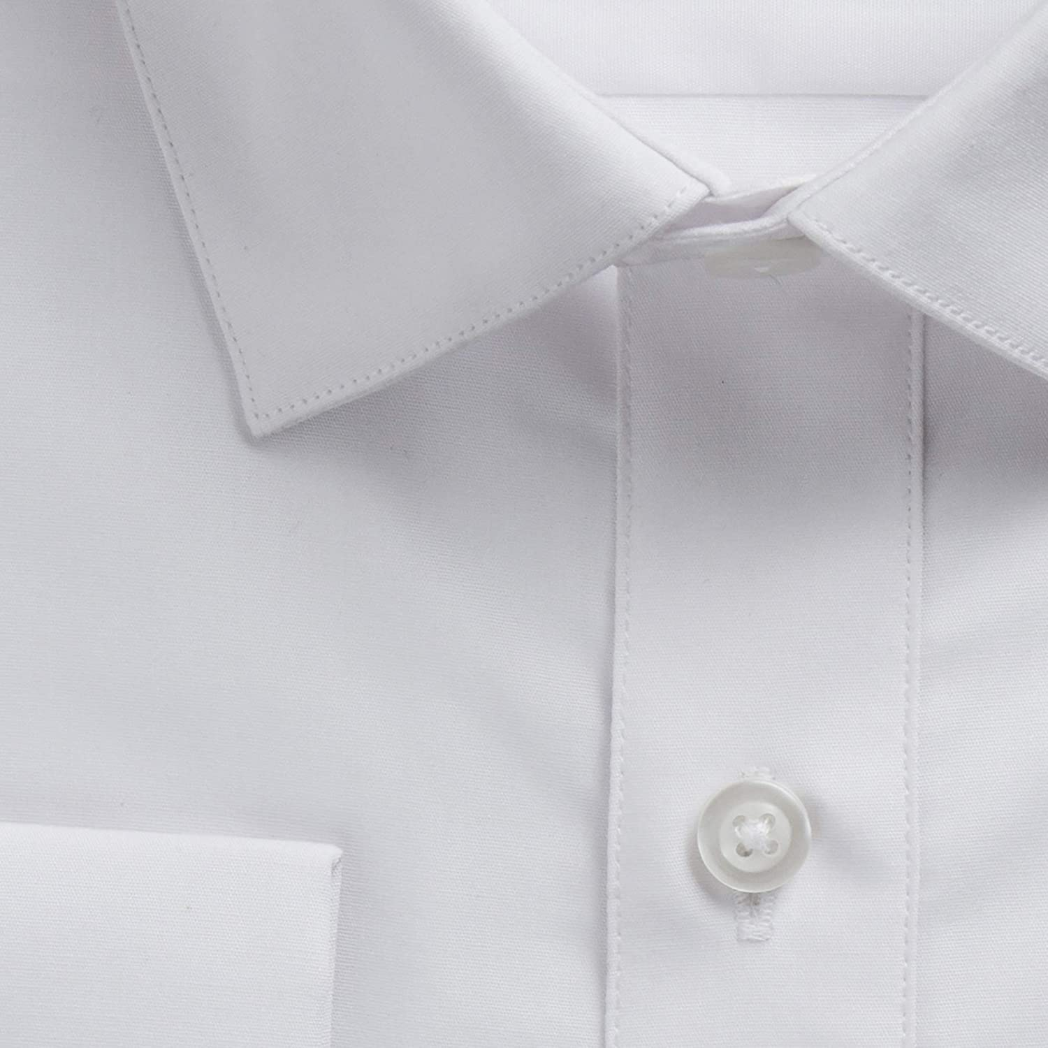 Gentlemens Collection Mens Regular /& Slim Fit French Cuff Solid Dress Shirt Colors Cufflink Included