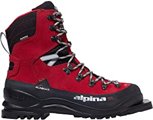Alpina Sports Alaska 75 Leather 3 Pin 75 mm Backcountry Cross Country Nordic Ski Boots