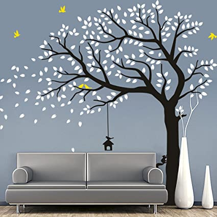 Fymural Large Falling Tree Wall Stickers Mural Paper For Livingroom Baby  Room Vinyl Removable DIY Decals