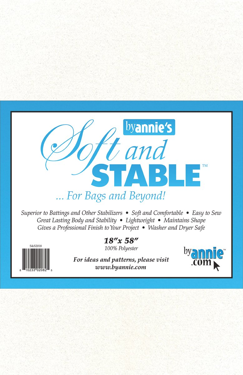 ByAnnie's Soft and Stable Fabric, 18 by 58-Inch, White