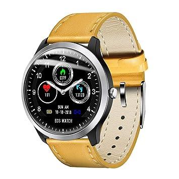 Inteligente N58 Reloj Pulsera ECG SmartWatch Hombres Ritmo cardíaco Medición Deportes Muñequera rastreador de Ejercicios de la Banda de Acero Inoxidable: ...