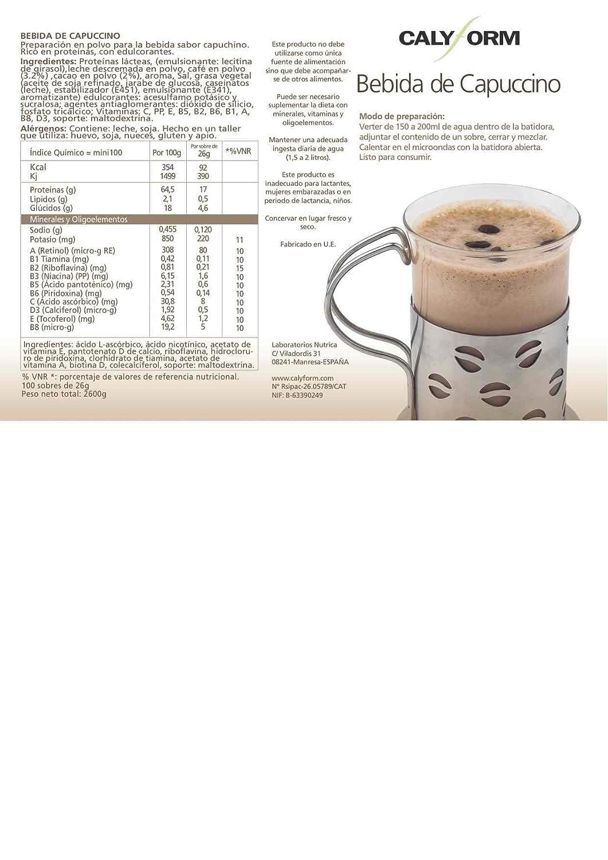 Bebida de capuchino proteina para deportisas y perder el peso (sobre de una unidad): Amazon.es: Salud y cuidado personal