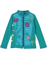 Women's Zip Up Jacket - Flower Power Reversible Light Coat