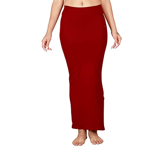 d1b8f3697270e Jeeon Women Maroon Microfiber Waist Trimmer Thigh Slimmer Saree Shapewear  XL  Amazon.in  Clothing   Accessories