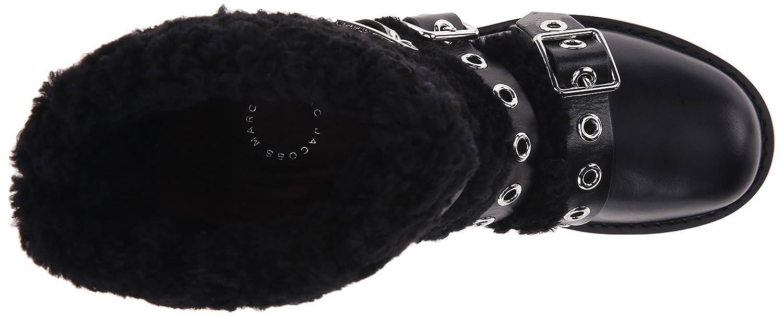 Marc by Marc Jacobs Women's Frost Three-Strap Shearling Boot B00XMBB2WY 37 M EU / 7 B(M) US|Black