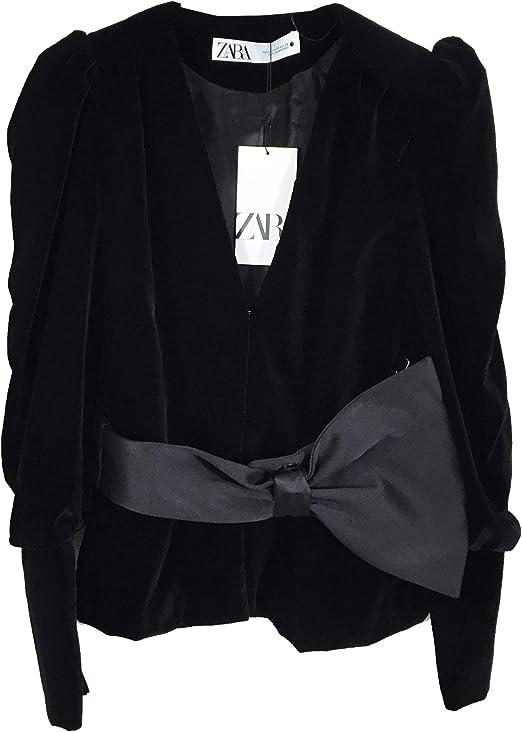 Zara Women 8305/793/800 - Chaqueta de Terciopelo con Lazo Negro XL ...