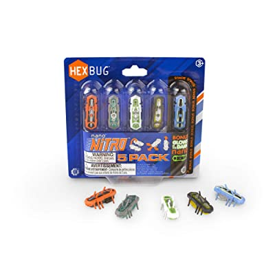 HEXBUG nano Nitro 5 Pack - Sensory Vibration Toys for Kids and Cats - Tiny HEX BUG Children's Toy Technology with Batteries Included - Multicolor: Toys & Games