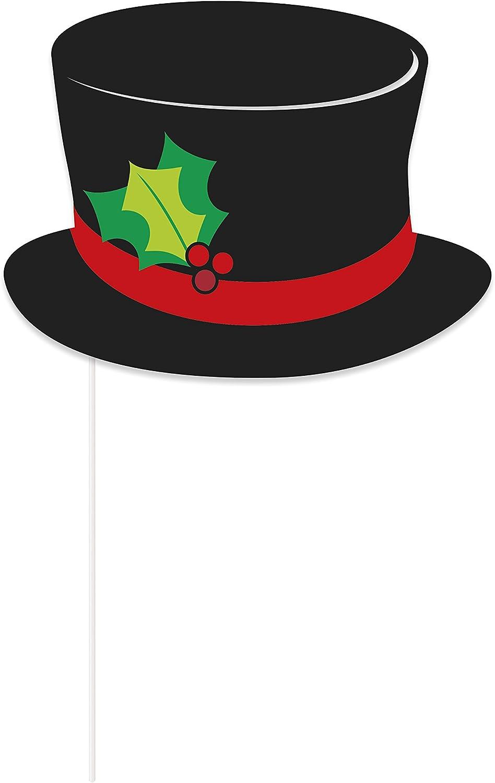 Unique Party - Accesorios de Fotomatón de Navidad - Paquete de 10 ...