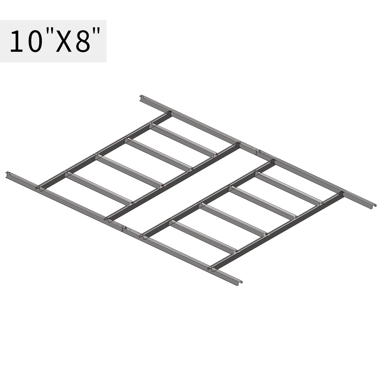 Wonlink Metal Floor Frame Kit Storage Shed Base Kit For 10''x8''Storage Buildings(fit 10''x8''), sliver