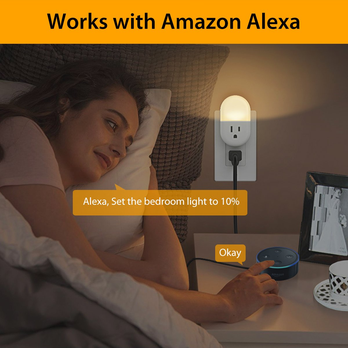 iMah Night Light Plug-in, Smart Plug works with Alexa Google Assistant IFTTT, WiFi Smart Plug Mini Outlet Socket control your Devices from Anywhere (4-Pack) by iMah (Image #4)