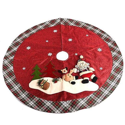 MX kingdom Falda arbol Navidad,120 cm Base de árbol de Navidad ...
