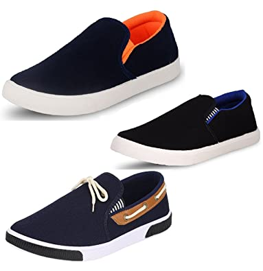 a9d9c06170685 Chevit Men's Trio Pack of 3 Casual Loafers Shoes
