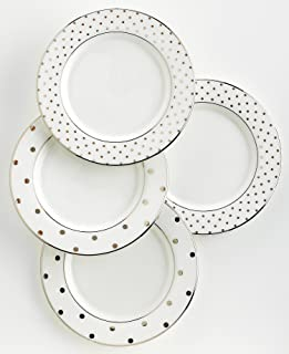 kate spade new york Larabee Road Platinum Tidbit Plate Set - 4 ct  sc 1 st  Amazon.com & Amazon.com | Kate Spade New York Cypress Point Dinnerware 5-Piece ...